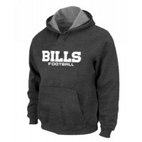Buffalo Bills Authentic Font Pullover Hoodie Dark Grey