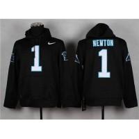 Carolina Panthers #1 Cam Newton Pullover NFL Hoodie Black