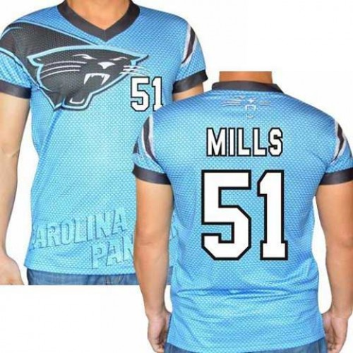 finest selection 2234b d16d5 Carolina Panthers #51 Sam Mills Stretch Name Number Player ...