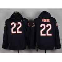Chicago Bears #22 Matt Forte Navy Blue Pullover Hoodie