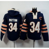Chicago Bears #34 Walter Payton Navy Blue Player Winning Method Pullover NFL Hoodie