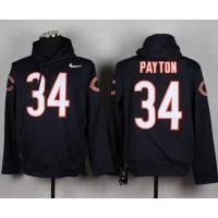 Chicago Bears #34 Walter Payton Navy Blue Pullover Hoodie