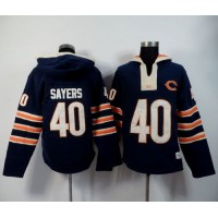 Chicago Bears #40 Gale Sayers Navy Blue Player Winning Method Pullover NFL Hoodie