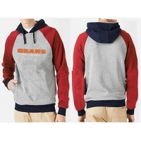 Chicago Bears English Version Pullover Hoodie Grey & Red