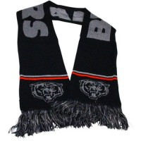 Chicago Bears Ladies Metallic Thread Scarf Black