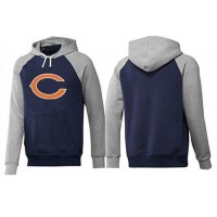 Chicago Bears Logo Pullover Hoodie Dark Blue & Grey