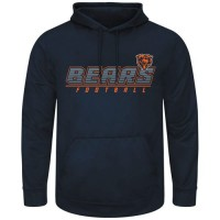 Chicago Bears Majestic Punt Return Pullover Hoodie Navy