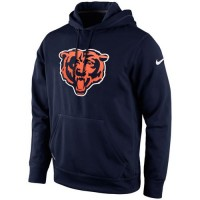 Chicago Bears Nike KO Logo Essential Hoodie Navy Blue