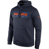 Chicago Bears Nike KO Speed Wordmark Performance Hoodie Navy Blue