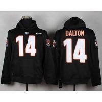 Cincinnati Bengals #14 Andy Dalton NFL Pullover Hoodie Black