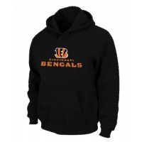 Cincinnati Bengals Authentic Logo Pullover Hoodie Black