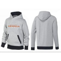 Cincinnati Bengals English Version Pullover Hoodie Grey & Black