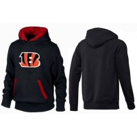 Cincinnati Bengals Logo Pullover Hoodie Black & Red