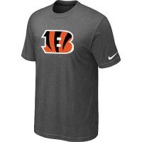 Cincinnati Bengals Sideline Legend Authentic Logo Dri-FIT Nike NFL T-Shirt Crow Grey