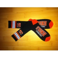 Cincinnati Bengals Team Logo Black NFL Socks