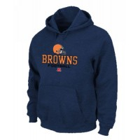 Cleveland Browns Critical Victory Pullover Hoodie Dark Blue