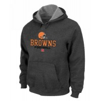 Cleveland Browns Critical Victory Pullover Hoodie Dark Grey