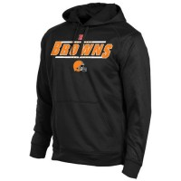 Cleveland Browns Historic Logo Majestic Synthetic Hoodie Sweatshirt Black