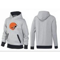 Cleveland Browns Logo Pullover Hoodie Grey & Black