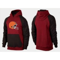 Cleveland Browns Logo Pullover Hoodie Red & Black