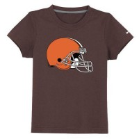 Cleveland Browns Sideline Legend Authentic Logo Youth T-Shirt Brown