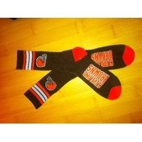 Cleveland Browns Team Logo Brown NFL Socks