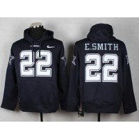 Dallas Cowboys #22 Emmitt Smith Navy Blue Pullover NFL Hoodie