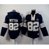 Dallas Cowboys #82 Jason Witten Navy Blue Player Winning Method Pullover NFL Hoodie