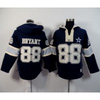 Dallas Cowboys #88 Dez Bryant Navy Blue Player Winning Method Pullover NFL Hoodie