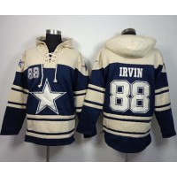 Dallas Cowboys #88 Michael Irvin Navy Blue Sawyer Hooded Sweatshirt NFL Hoodie