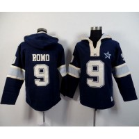 Dallas Cowboys #9 Tony Romo Navy Blue Player Winning Method Pullover NFL Hoodie