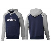Dallas Cowboys Authentic Logo Pullover Hoodie Dark Blue & Grey