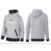 Dallas Cowboys Authentic Logo Pullover Hoodie Grey & Black