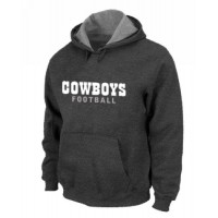 Dallas Cowboys Font Pullover Hoodie Dark Grey