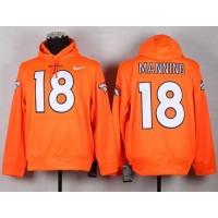 Denver Broncos #18 Peyton Manning Orange NFL Pullover Hoodie