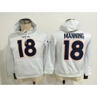 Denver Broncos #18 Peyton Manning White Pullover NFL Hoodie
