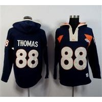 Denver Broncos #88 Demaryius Thomas Navy Blue Player Winning Method Pullover NFL Hoodie
