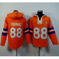 Denver Broncos #88 Demaryius Thomas Orange Player Winning Method Pullover NFL Hoodie
