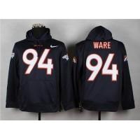 Denver Broncos #94 DeMarcus Ware Blue Pullover NFL Hoodie