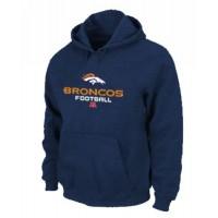 Denver Broncos Critical Victory Pullover Hoodie Dark Blue