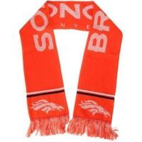Denver Broncos Ladies Metallic Thread Scarf Orange