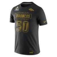 Denver Broncos Nike Super Bowl 50 Champions Gold Pack T-Shirt Black