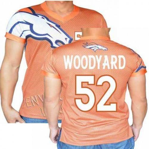 check out 5367c c1ce8 Denver Broncos Orange #52 Wesley Woodyard Stretch Name ...