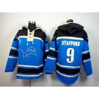 Detroit Lions #9 Matthew Stafford Blue Sawyer Hooded Sweatshirt NFL Hoodie