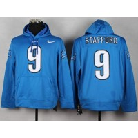 Detroit Lions #9 Matthew Stafford Pullover NFL Hoodie Blue