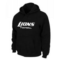 Detroit Lions Authentic Font Pullover Hoodie Black