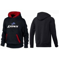 Detroit Lions Authentic Logo Pullover Hoodie Black & Red