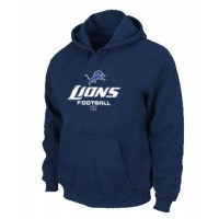 Detroit Lions Critical Victory Pullover Hoodie Dark Blue