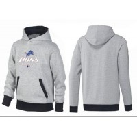 Detroit Lions Critical Victory Pullover Hoodie Grey & Black