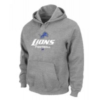 Detroit Lions Critical Victory Pullover Hoodie Grey